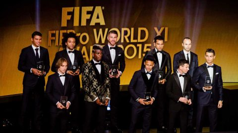 Messi, Ronaldo, Tanpa Griezmann FIFA Umumkan FIFPro World XI
