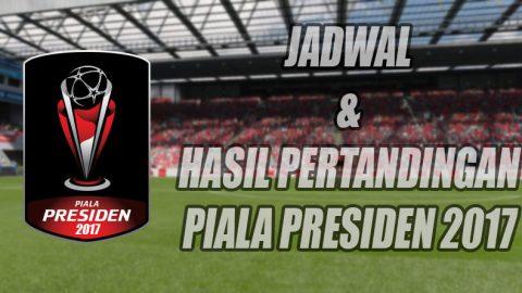 Jadwal dan Hasil Pertandingan Piala Presiden 2017