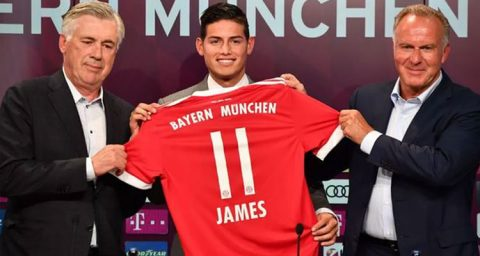 Bayern Munich Konfirmasi Cedera James Rodriguez