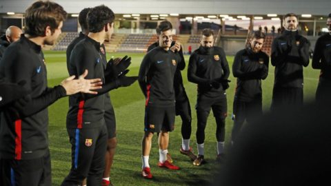 Coutinho Berlatih Pertama Kali Bersama Messi Dan Pique