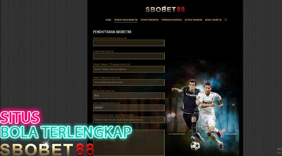 Situs Judi Bola Online Terlengkap - SBobet88